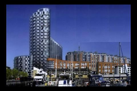 The proposed new building will be the tallest on Providence Wharf